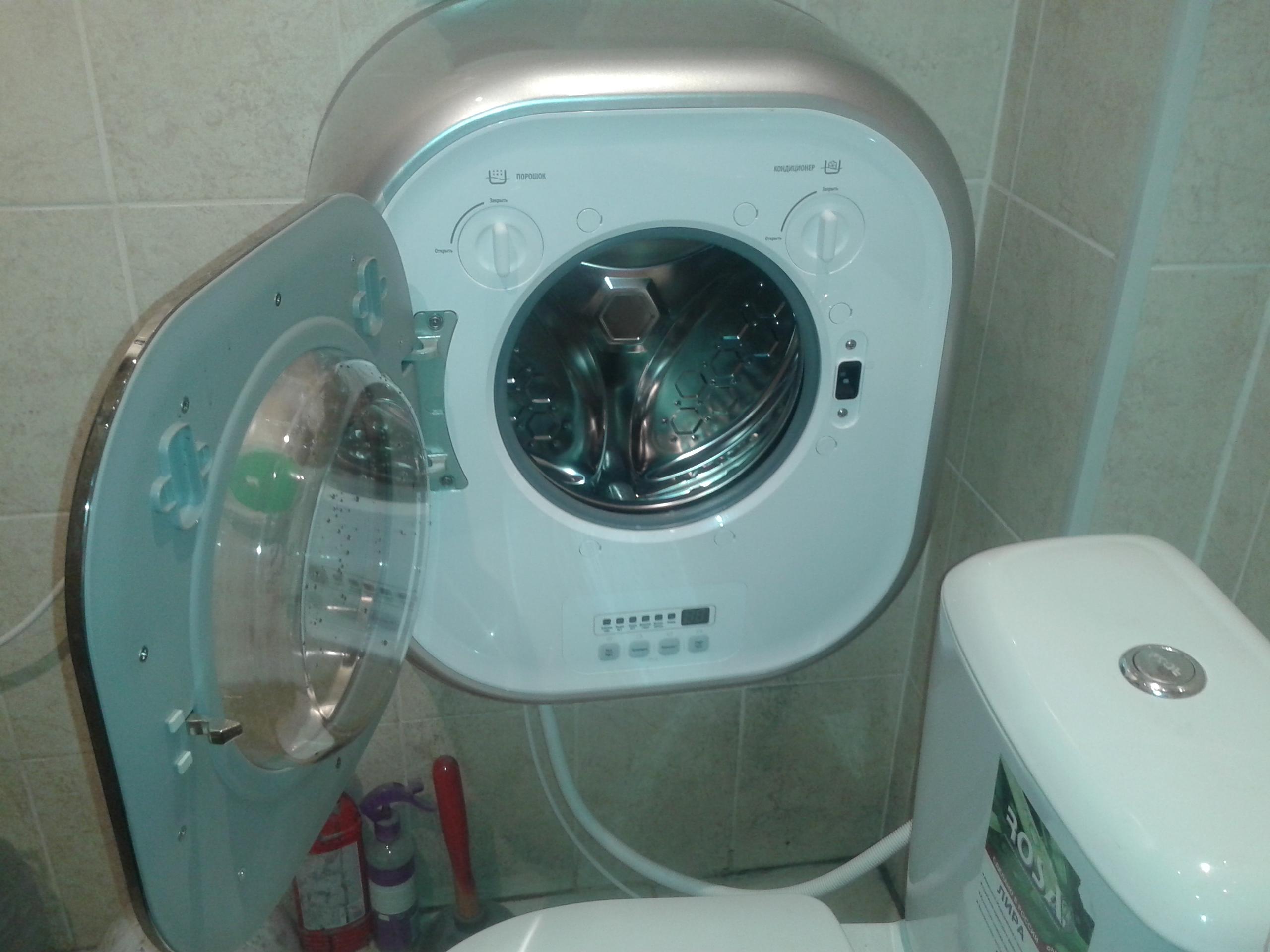 Такая стиральная машина поместится практически везде